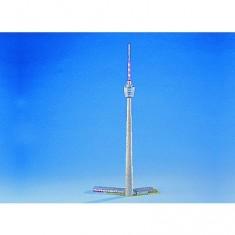 Maquette en carton : Antenne relais de télévision de Stuttgart, Allemagne