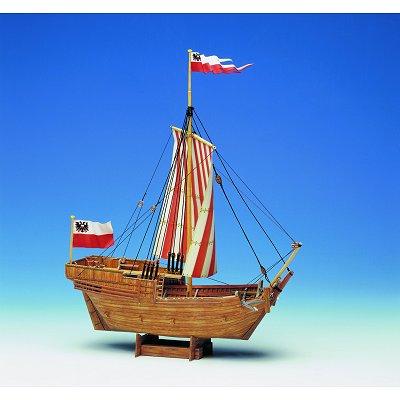 Maquette en carton : Barque marchande du Moyen Age - Schreiber-Bogen-590