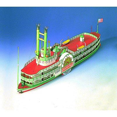 Maquette en carton : Bateau à roue Le Mississippi  - Schreiber-Bogen-71827