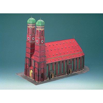 Maquette en carton : Cathédrale de Munich, Allemagne  - Schreiber-Bogen-72459