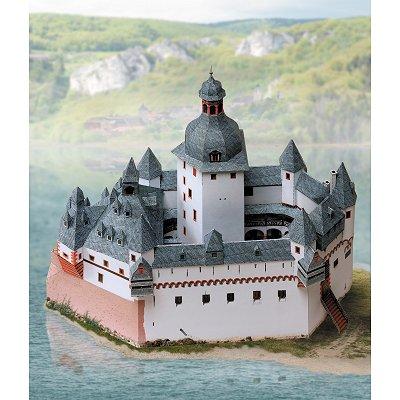 Maquette en carton : Château de Pfalz, Kaub - Schreiber-Bogen-670