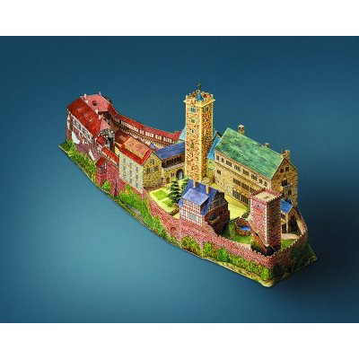 Maquette en carton : Château de Wartburg, Allemagne - Schreiber-Bogen-638