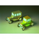 Maquette en carton : Deux Ford T : Oldtimer