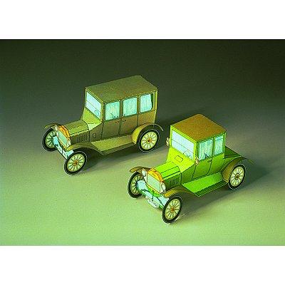 Maquette en carton : Deux Ford T : Oldtimer  - Schreiber-Bogen-71456