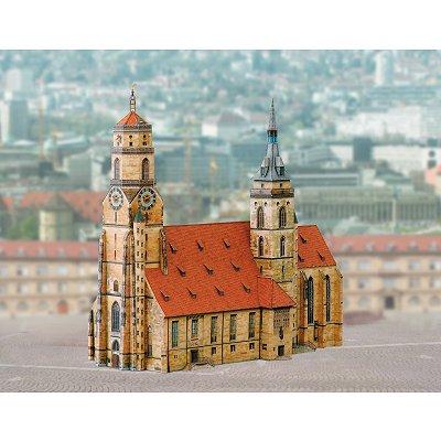 Maquette en carton : Eglise de Stuttgart, Allemagne - Schreiber-Bogen-664