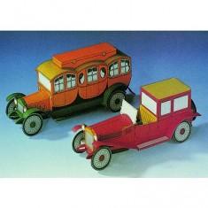 Maquette en carton : Lancia Lambda 1925 et Comfort Motor Reitsekutsche 1913