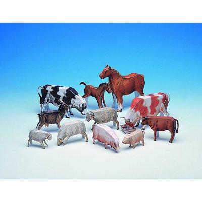 Maquette en carton : Les animaux de la ferme  - Schreiber-Bogen-555