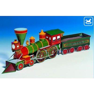 Maquette en carton : Locomotive Western Santa Fé - Schreiber-Bogen-72614