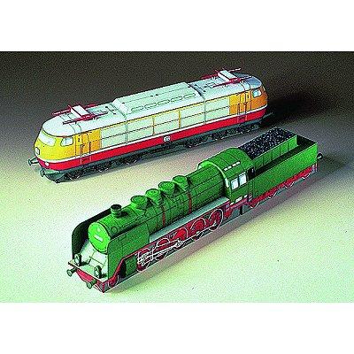 Maquette en carton : Locomotives - Schreiber-Bogen-72063