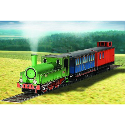 Maquette en carton : Machine à vapeur avec 2 Wagons - Schreiber-Bogen-618