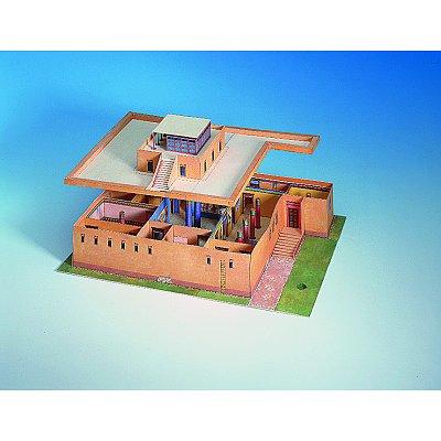 maquette en carton : maison égyptienne - schreiber-bogen - rue des