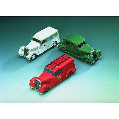 Maquette en carton : Mercedes Benz 170 V : 3 modèles - Schreiber-Bogen-72442