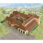 Maquette en carton : Monastère de Maulbronn, Allemagne