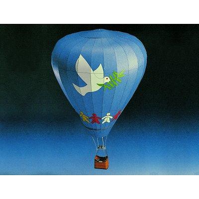 Maquette en carton : Montgolfière Emblème de la paix  - Schreiber-Bogen-72234