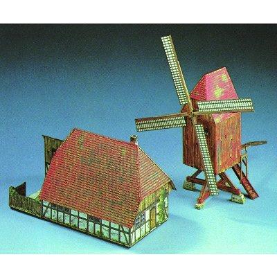 Maquette en carton : Moulin à vent et bâtiment de ferme - Schreiber-Bogen-607