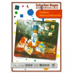 Maquette en carton pour enfants : Bricolage de fête de Noël