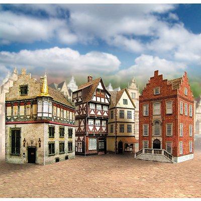 Maquette en carton : Quatre vieilles maisons, Allemagne - Schreiber-Bogen-651