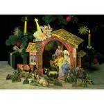 Maquette en carton : Théâtre de la nativité :  La crèche