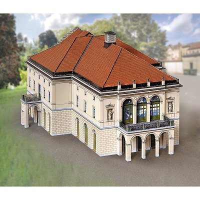 Maquette en carton : Théâtre Wilhelma de Stuttgart, Allemagne - Schreiber-Bogen-674