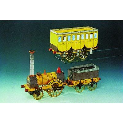 Maquette en carton : Train à vapeur : Stephenson's Planet - Schreiber-Bogen-71554