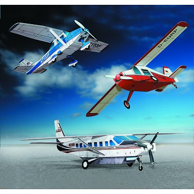 Maquette en carton : Trois avions - Schreiber-Bogen-611