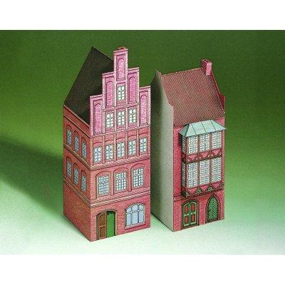 Maquette en carton : Vieilles maisons à Lunebourg, Allemagne - Schreiber-Bogen-71517