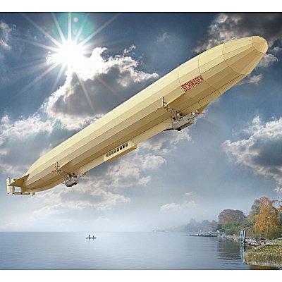 Maquette en carton : Zeppelin Schwaben LZ 10 - Schreiber-Bogen-645