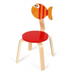 bureau et chaise en bois orange et bleu jeux et jouets. Black Bedroom Furniture Sets. Home Design Ideas