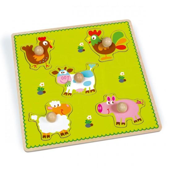 Encastrements : Puzzle à Boutons Ferme - Scratch-6181024