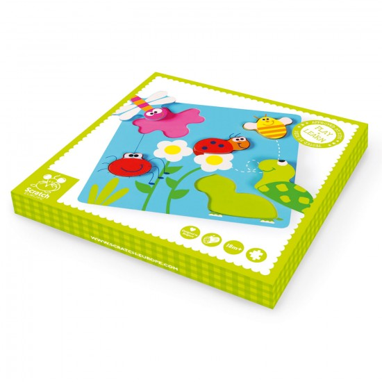 Encastrements : Puzzle en relief Jardin - Scratch-6181017