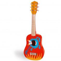 Guitare en bois : Monstre Rock & Roll