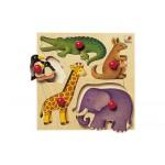 Encastrement 5 pièces en bois : Zoo