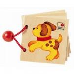 Livre en bois Mini album aux couleurs variéesPetits animaux