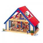 Maison de poupée mansardée