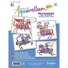Recharge Aquarellum Junior : Chevaliers
