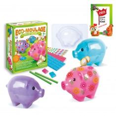 Eco-moulage Popsine : Les cochons dodus