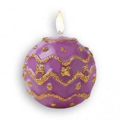 Moule bi-face pour bougie Boule de Noël