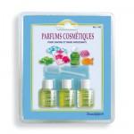Recharge : 3 flacons de parfums pour savon et bain moussant