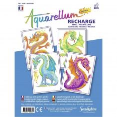 Recharge Aquarellum Junior : Dragons