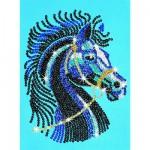 Kit paillettes Art Sequin et perles : Etalon noir