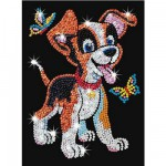Kit paillettes Art Sequin junior : Puppy le chiot