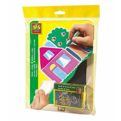 ardoise 25 x 18 cm avec craies couleurs jeux et jouets ses creative avenue des jeux. Black Bedroom Furniture Sets. Home Design Ideas