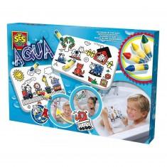 Jouet pour le bain : Images à colorier