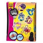 Kit de création : Bagues en aluminium Pink City