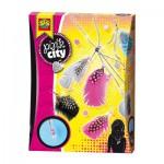 Kit de création : Collier et boucle d'oreilles en plume Pink City