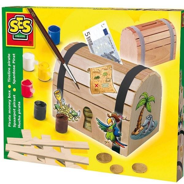 kit de fabrication d 39 une tirelire coffre de pirate jeux et jouets ses creative avenue des jeux. Black Bedroom Furniture Sets. Home Design Ideas