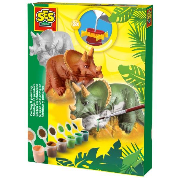 Kit de moulage en plâtre : Tricératops - SES Creative-01284