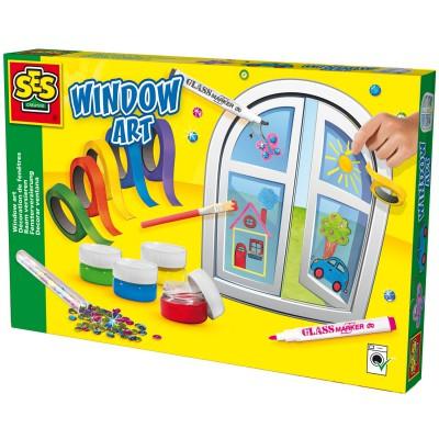 Kit d coration de vitres et fen tres ses creative magasin de jouets pour en - Decoration vitres fenetres ...