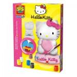 Moulage en plâtre et peinture : Hello Kitty