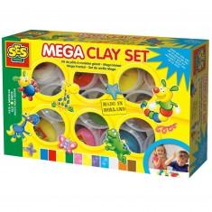 Pâte à modeler Mega : Set 11 couleurs